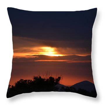 Mountains In The Sky Throw Pillow by Tom Mansfield
