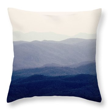 Throw Pillow featuring the photograph Mountains by Kim Fearheiley