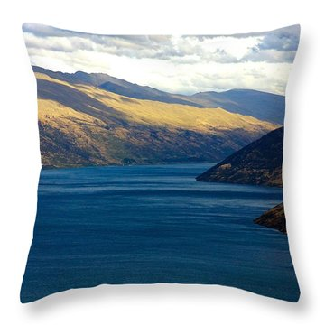 Throw Pillow featuring the photograph Mountains Meet Lake #2 by Stuart Litoff