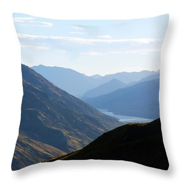 Throw Pillow featuring the photograph Mountains Meet Lake #3 by Stuart Litoff