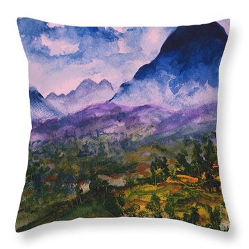 Mountains Of Pyrenees  Throw Pillow