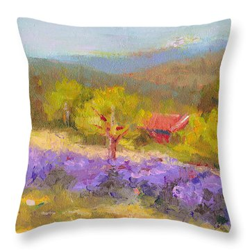 Mountainside Lavender   Throw Pillow