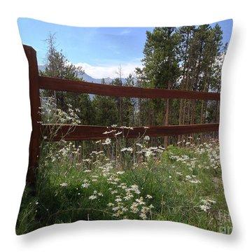 Mountainside Lawn Throw Pillow by Garren Zanker