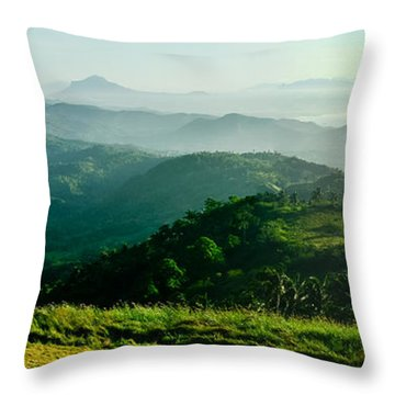 Mountaintop Panorama Throw Pillow