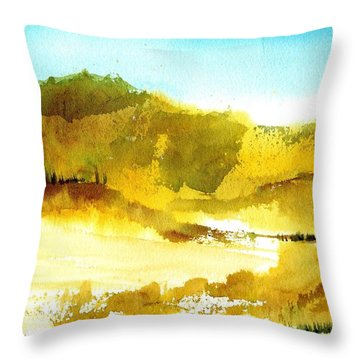 Mountan Desert Throw Pillow