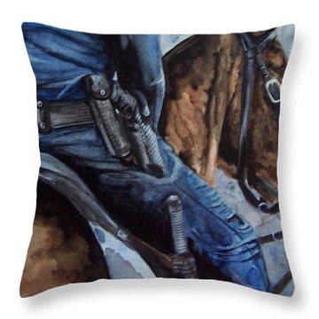 Mounted Patrol Throw Pillow