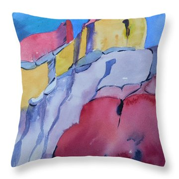 Mountians At Ghost Ranch Throw Pillow