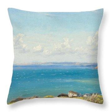 Mount's Bay C1899 Throw Pillow by Arthur Hughes