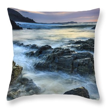 Throw Pillow featuring the photograph Mourillar Beach Galicia Spain by Pablo Avanzini