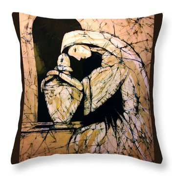 Mourning Angel Throw Pillow