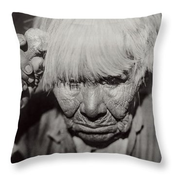 Mourning Circa 1924 Throw Pillow by Aged Pixel