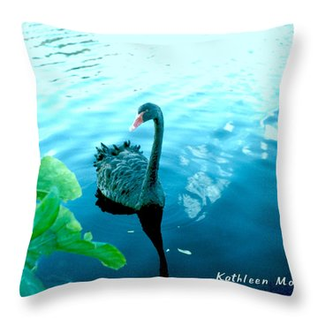Mourning Swan Song Throw Pillow
