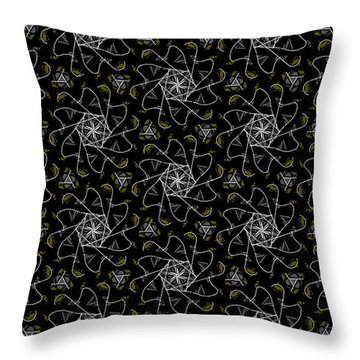 Throw Pillow featuring the digital art Mourning Weave by Elizabeth McTaggart
