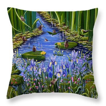 Mouse Pad Throw Pillow by Jennifer Lake