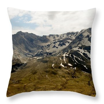 Mouth Of Helens Throw Pillow