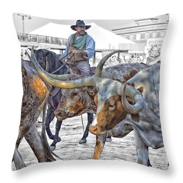 Move Em Out Throw Pillow