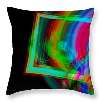 Movement Mingling With Color Throw Pillow by Teri Schuster