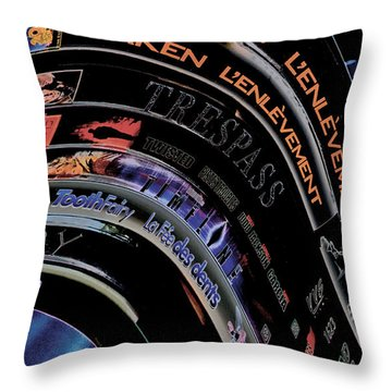 Throw Pillow featuring the photograph Movie Madness by Pennie  McCracken