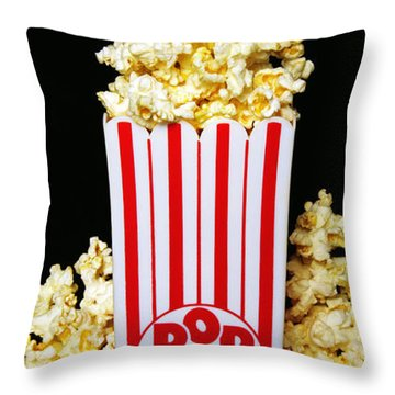 Movie Night Pop Corn Throw Pillow