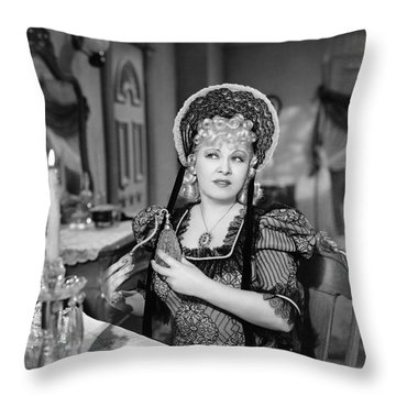 Movie Star Mae West Throw Pillow by Underwood Archives