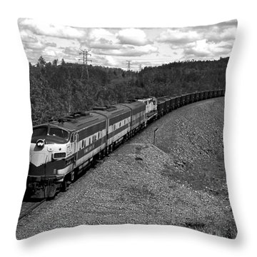 Moving Across America Throw Pillow