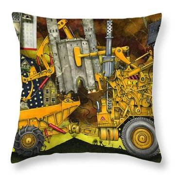 Moving Home Throw Pillow by Colin Thompson