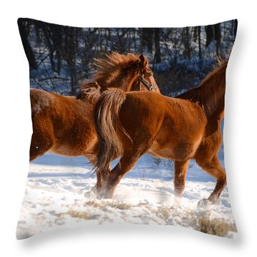 Moving In Motion 2 Throw Pillow