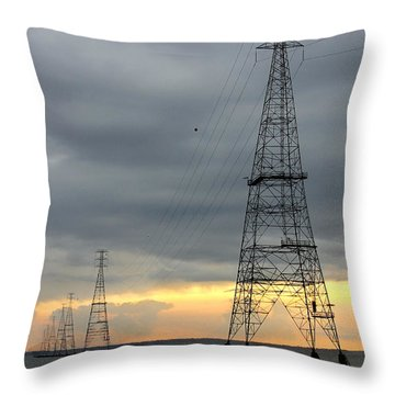 Moving Power Throw Pillow by Mike McGlothlen