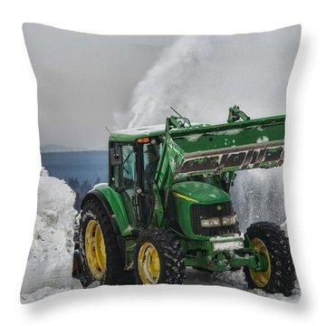 Moving Snowbanks Throw Pillow