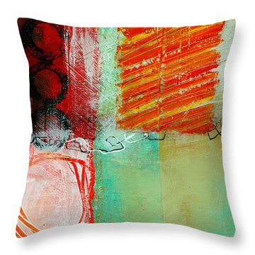 Moving Through 4 Throw Pillow by Jane Davies