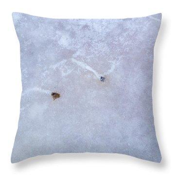 Moving Through Ice Throw Pillow