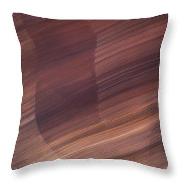 Moving Through Light Throw Pillow