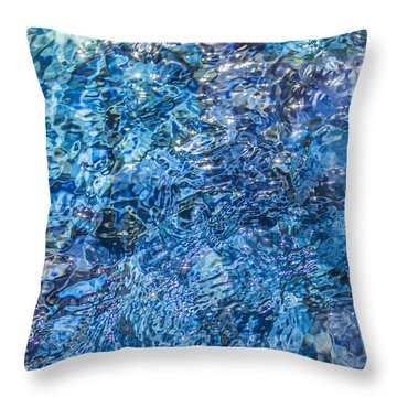 Throw Pillow featuring the photograph Moving Water 1 by Leigh Anne Meeks