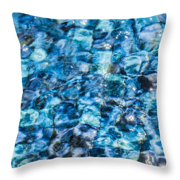Throw Pillow featuring the photograph Moving Water 2 by Leigh Anne Meeks