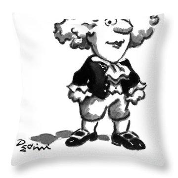 Mozart At Three Throw Pillow