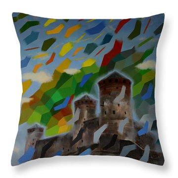 Mozart Throw Pillow by Jukka Nopsanen