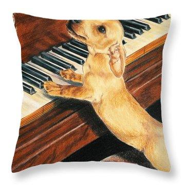 Mozart's Apprentice Throw Pillow