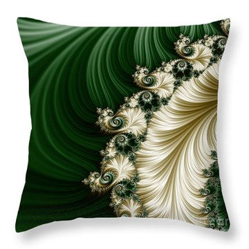 Mozart's Feathers Throw Pillow by Mary Machare
