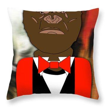 Mr Ape Throw Pillow