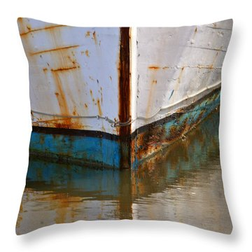 Mr. Bell's Boat Throw Pillow