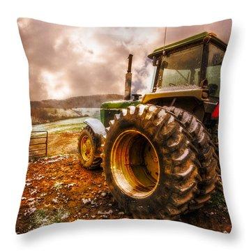 Mr. Big Throw Pillow by Debra and Dave Vanderlaan