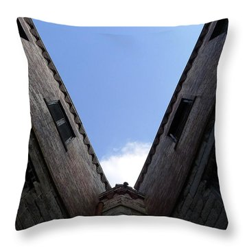 Mr Blue Sky Throw Pillow by Richard Reeve