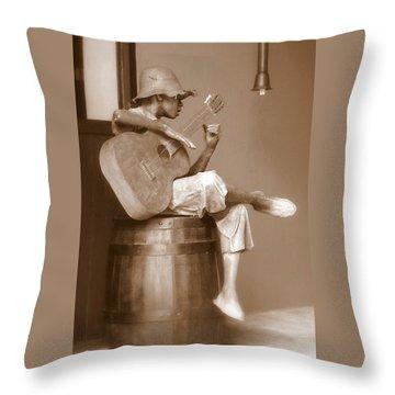 Mr. Bojangles Throw Pillow by Karen Wiles