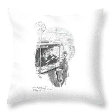 Mr. Bradley Throw Pillow