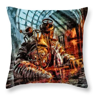 Mr. Bubbles Please Get Up Throw Pillow