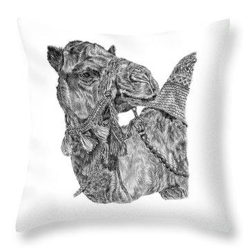 Mr Camel Throw Pillow