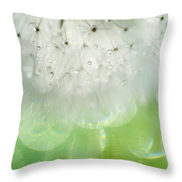 Mr. Dandelion. Inner Light Throw Pillow by Jenny Rainbow