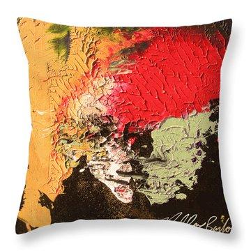 Mr Happy Throw Pillow
