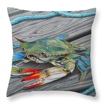 Mr. Jimmy Throw Pillow by Karen Rhodes