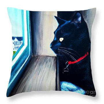 Mr Kitty Throw Pillow